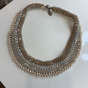 STATEMENT NECKLACE Semi-Choker Crystal Beaded